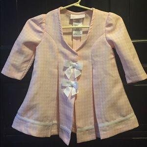 Bonnie Baby Girl Pink  Dress Coat